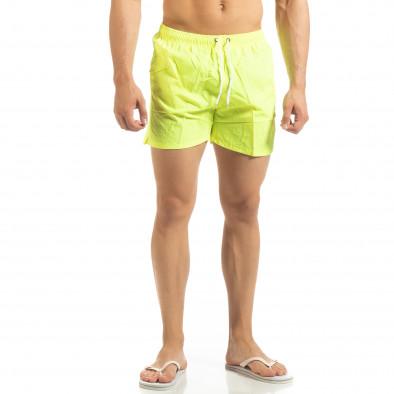Basic мъжки бански в неоново жълто it090519-79 2