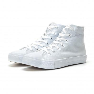 Мъжки бели високи кецове базов модел. Размер 42/44 it250119-3-3 2