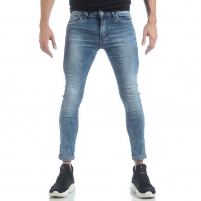 Мъжки Skinny Washed Jeans в синьо it040219-7 3