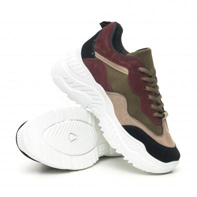 Дамски велурени маратонки с цветни зони it281019-2 4