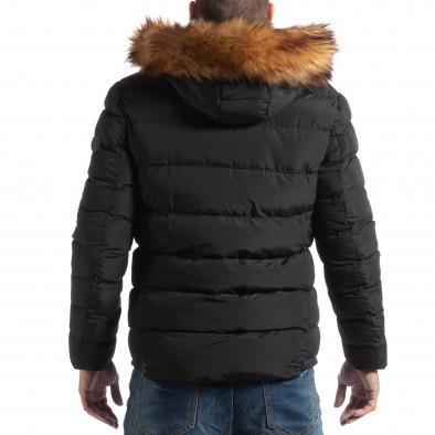 Мъжко яке в черно с пухкава подплата it250918-76 4