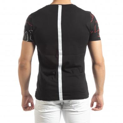 Мъжка тениска в черно с лента на гърба it150419-76 3