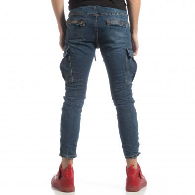 Мъжки сини дънки Cargo  it051218-12 4