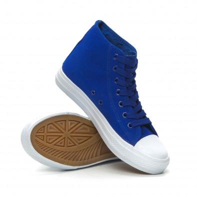 Basic дамски сини високи кецове  it150319-34 4