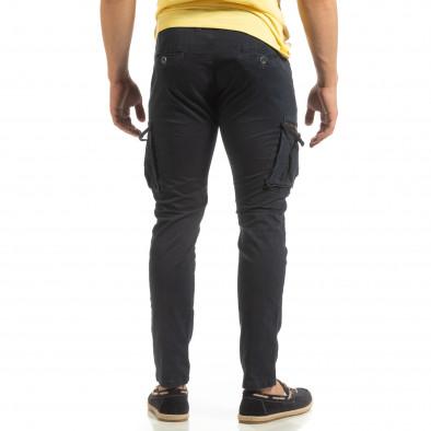 Син мъжки карго панталон с прави крачоли it090519-13 4