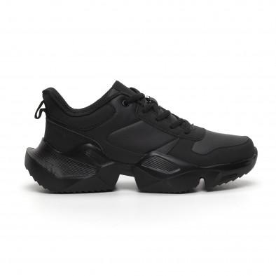 Extra Chunky мъжки леки маратонки в черно it260919-30 3