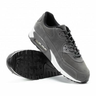 Велурени мъжки Air маратонки в сиво it140918-28 4
