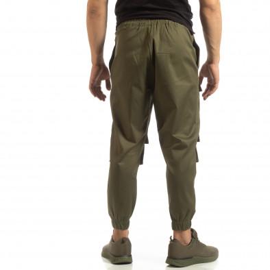Cropped мъжки зелен панталон с джобове it090519-19 4