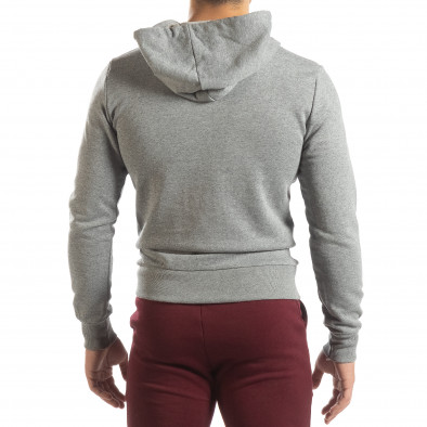 Basic мъжки памучен суичър в сиво it150419-37 4
