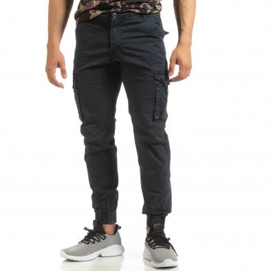 Мъжки карго джогър панталон в синьо it090519-10 3