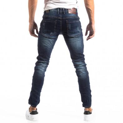 Мъжки намачкани Slim Jeans с акцентни кръпки it250918-16 4