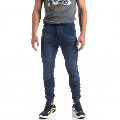 Мъжко рокерско долнище цвят син деним it170819-31 3