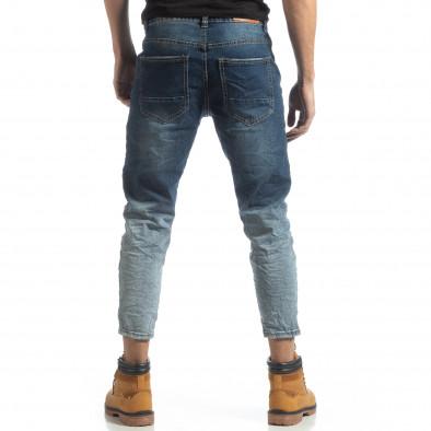Мъжки сини дънки с избелял ефект it051218-13 4