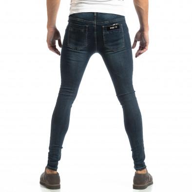 Еластични мъжки дънки в синьо it261018-14 4
