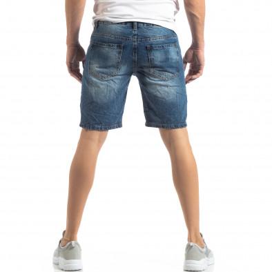 Мъжки сини къси дънки с прокъсвания it210319-30 4