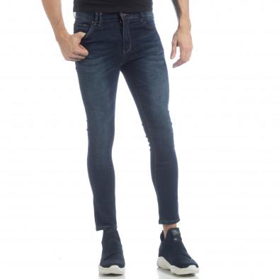 Мъжки класически Skinny Jeans в синьо it040219-8 2
