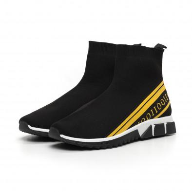Мъжки маратонки тип чорап жълт кант it260919-11 4