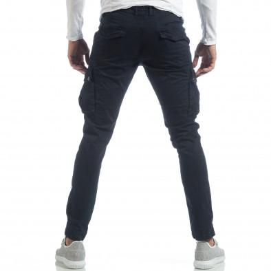 Син мъжки панталон с карго джобове it040219-41 4