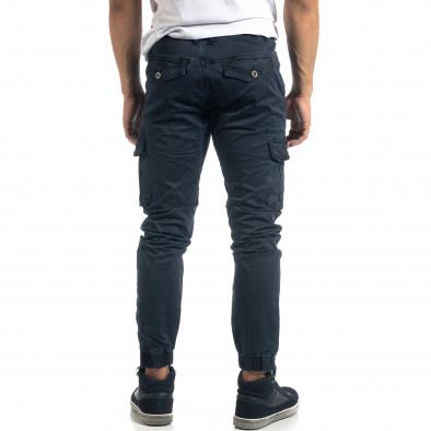 Син мъжки карго панталон с ципове it041019-43 4