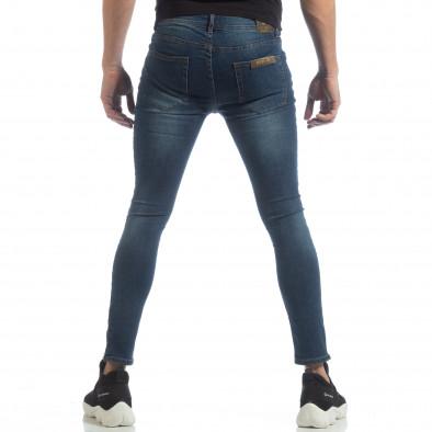 Skinny мъжки сини дънки с ципове it040219-6 4