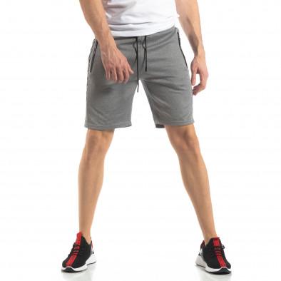 Сиви мъжки шорти с ивици it210319-61 3