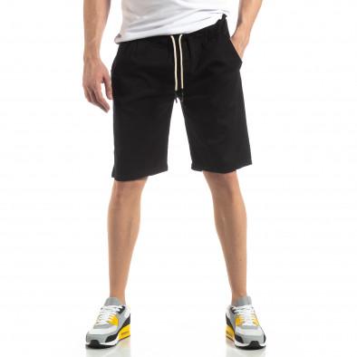 Basic мъжки къси панталони в черно it210319-35 2