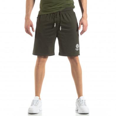 Мъжки спортни шорти в зелено it210319-69 3