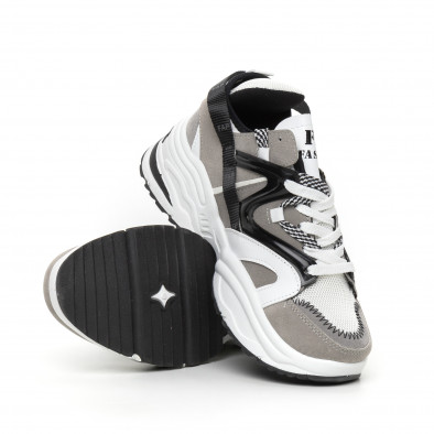 Мъжки сиви маратонки Chunky дизайн it130819-30 4