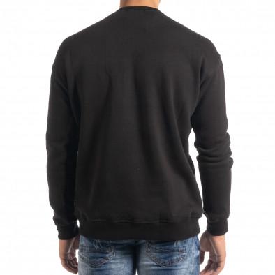Ватирана блуза тип суичър в черно it041019-54 3
