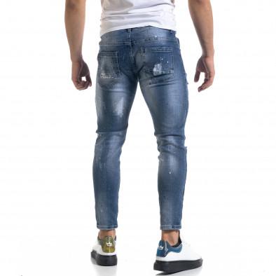 Мъжки сини дънки Destroyed Cropped it110320-5 3
