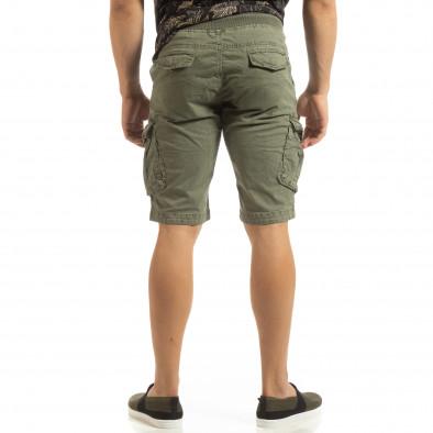 Мъжки зелени карго бермуди с ластик на колана it090519-33 4