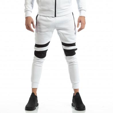 Мъжки Jogger в бяло с черни зони it261018-61 3
