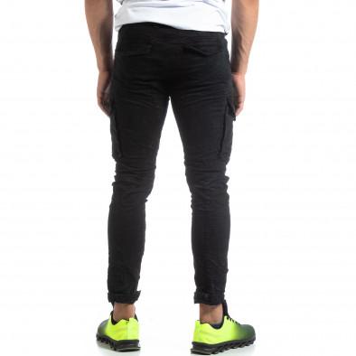 Черен мъжки карго панталон с прави крачоли it170819-15 4
