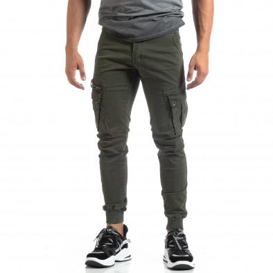 Мъжки зелен панталон Cargo Jogger  it170819-7 3