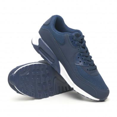 Сини мъжки маратонки с въздушна камера it251019-11 5