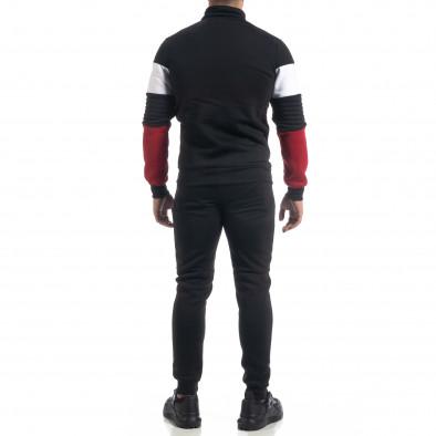 Черен ватиран мъжки спортен комплект Biker style it071119-50 6