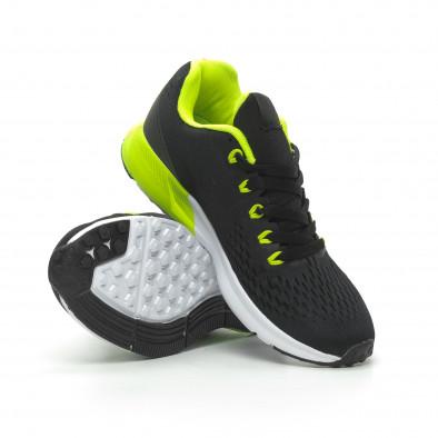 Ултралеки мъжки маратонки черно с неон it100519-2 4