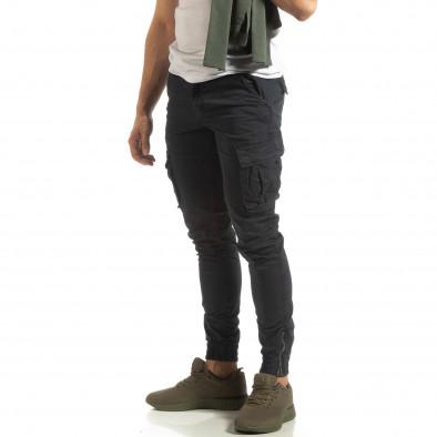 Мъжки син карго джогър с ципове на крачолите it090519-12 3