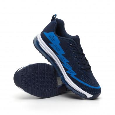 Сини плетени мъжки маратонки с въздушна камера MAX it260919-42 4