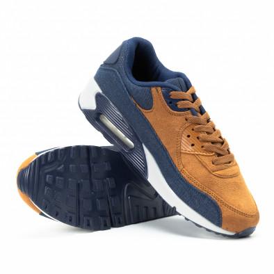 Комбинирани мъжки Air  маратонки в синьо и камел it140918-31 4