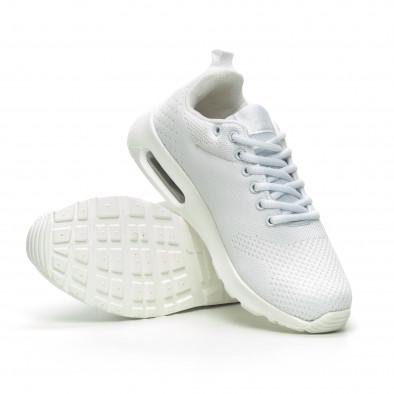 Плетени мъжки бели маратонки с въздушна камера it100519-6 4