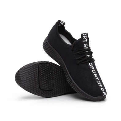 Мъжки текстилни спортни обувки All black it240419-1 4