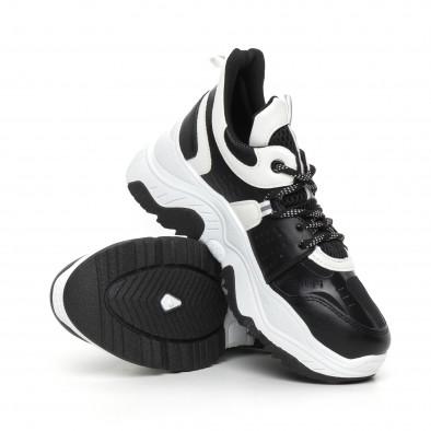 Chunky дамски маратонки в черно и бяло it130819-64 4