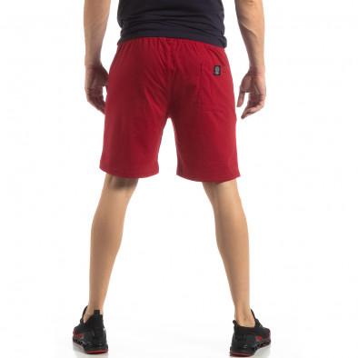 Мъжки спортни шорти в тъмно червено it210319-71 4