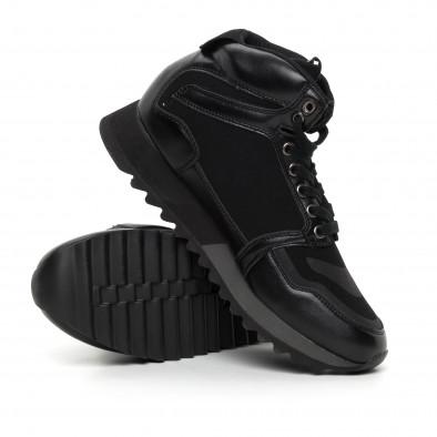 Мъжки високи спортни обувки в черно it130819-23 4