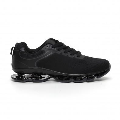 Мъжки черни маратонки с релефна подметка it260919-32 3