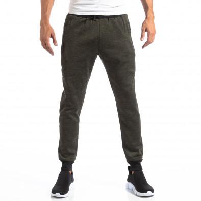 Мъжки Jogger в зелен меланж it250918-36 3