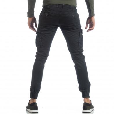 Черен карго панталон с ципове на крачолите it040219-34 4