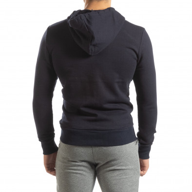 Basic мъжки памучен суичър в тъмно синьо it150419-39 4