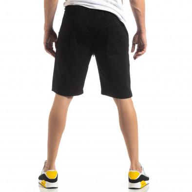 Basic мъжки къси панталони в черно it210319-35 3